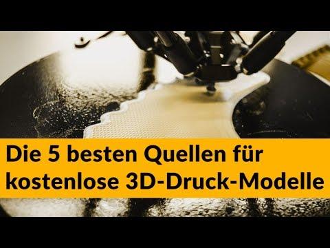 Die 5 besten Quellen für kostenlose 3D-Druck-Modelle