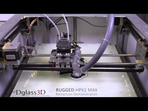 D3D RUGGED-HPX2 MAX Filament Retraction Demonstration