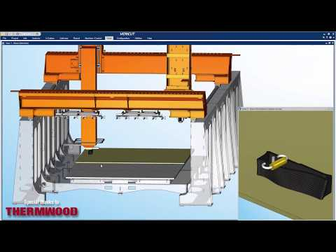 VERICUT Simulation of Thermwood LSAM Additive & Subtractive Heads