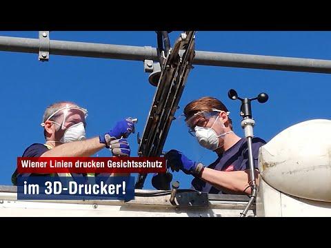 Covid-19 Gesichtsschutz aus dem 3D-Drucker für Bauarbeiten