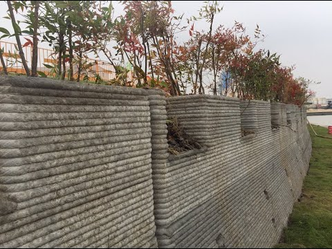 First 3D Printed Revetment Wall, Shanghai-Jiangsu Port, China (Part II)