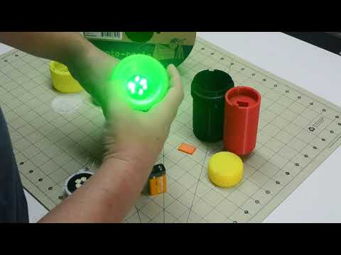 3D Printed Flashlight using Conductive Filament - Assembly Video