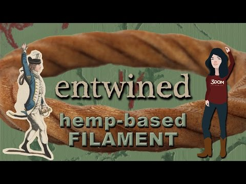 Entwined - 3D Filament Made From Hemp by 3D-Fuel