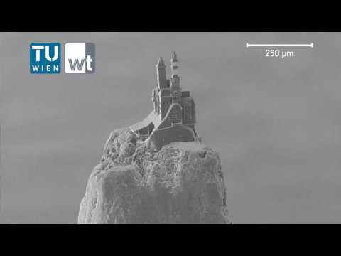 Castle on a pencil tip via nano-scale 3D-printing