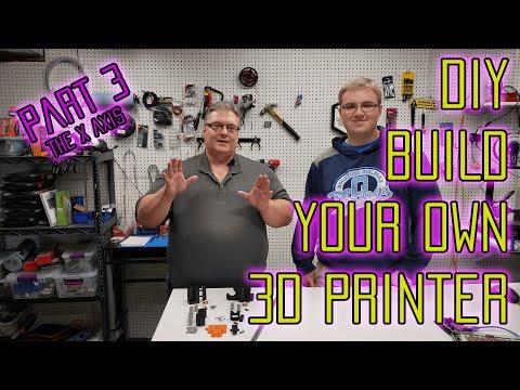 Build Your Own DIY 3D Printer From Scratch - Part 3 : The X Axis (DIY RepRap 3D Printer)