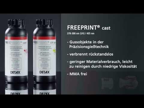 FREEPRINT® – Lichthärtender Kunststoff für LED Drucker /WL 405 nm oder 378-388 nm