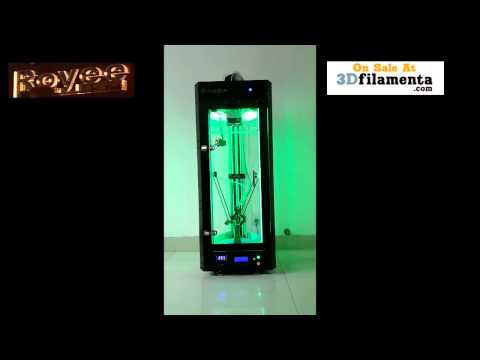 Royee II Delta 3D Printer LED Disco+Real Sound (Big Huge Print Volume)