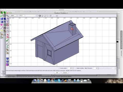 Art of Illusion tutorial 05: Making a simple house