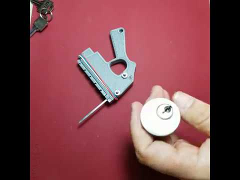 3D printed MINI snap gun lock pick second try open with ONE click!