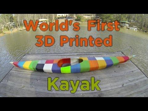 World's First 3D Printed Kayak