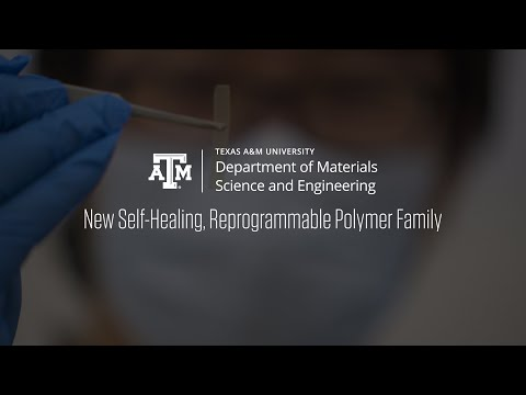 New Self Healing, Reprogrammable Polymer Family