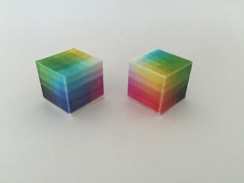 Color calibration cube 3D Printing by prototype Lunavast CrafteHbot Full Color 3D Printer Kit