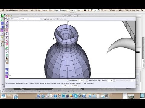 Art of Illusion Tutorial 09 - Polymesh Thicken Tool