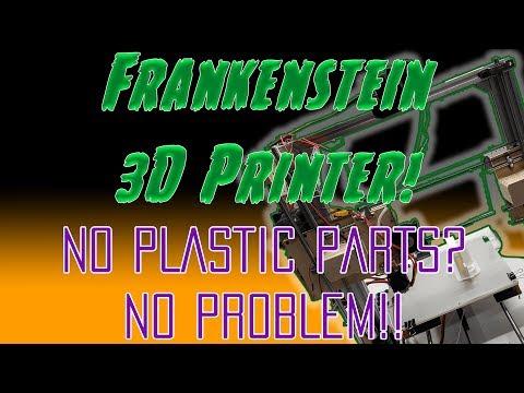 Frankenstein Printer Build - DIY 3D Printer using wood and scrap parts!