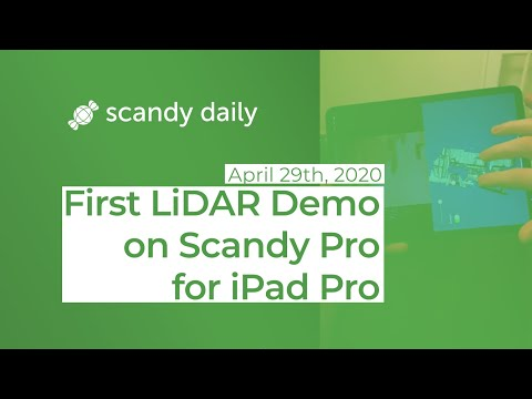 First LiDAR Demo on Scandy Pro for iPad Pro | Scandy Daily