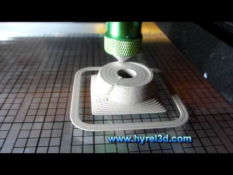 HYREL 3D - 3D Printing with Air-Dry Modeling Clay!