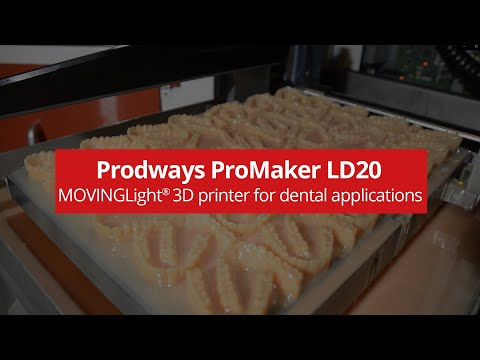 ProMaker LD20 Dental 3D printer - 1200 models a day: the ultimate Clear Aligners molds solution
