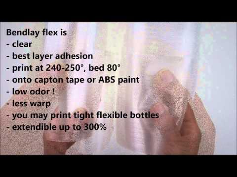 BENDLAY flex - a new 3D-Filament