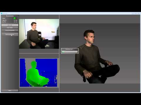 RecFusion - Reconstructing a person turning on a chair with Kinect