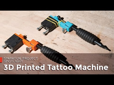 SparkFun 3D Printed Tattoo Machine
