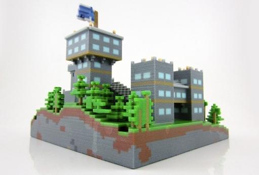 minecraft-multicolor-3D-Drucker