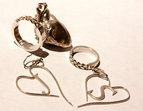3D-Druck-Silber-Herz