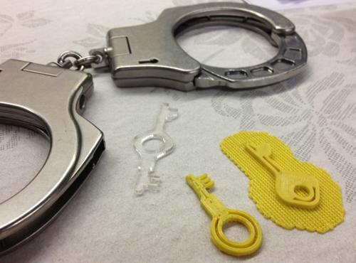 Schl 252 Ssel F 252 R Polizei Handschellen Aus Dem 3d Drucker
