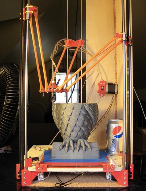 rostock delta robot 3d printer update. Black Bedroom Furniture Sets. Home Design Ideas