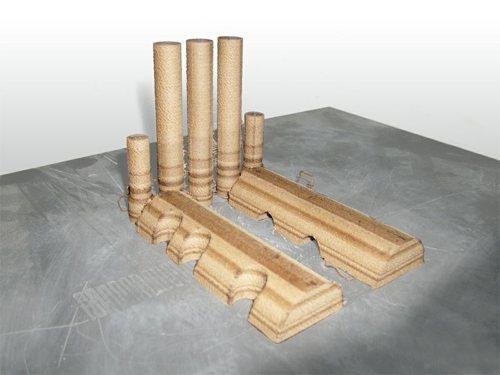 3D-Druck-aus Holz- Lokomotive