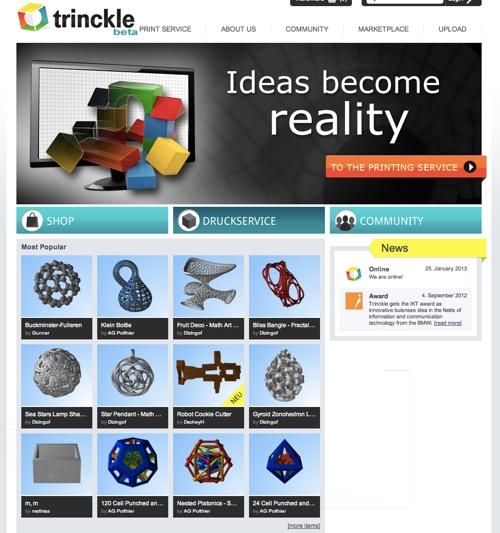 Trinckle-Deutscher-online-3D-Druck Marktplatz