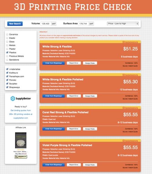 3d printing price check 3d druck dienstleister. Black Bedroom Furniture Sets. Home Design Ideas