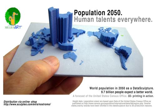 population 2050 3D-Druck