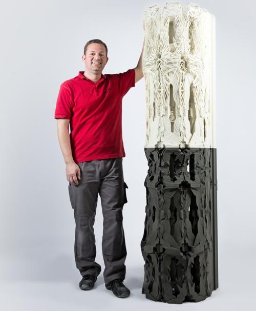 Voxeljet- Säule als Symbol neuer architektonischer Möglichkeiten