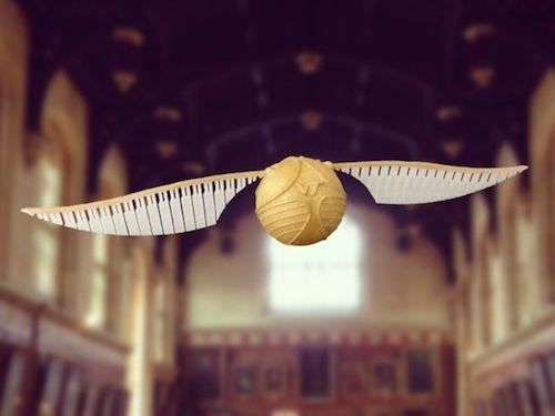 3d Gedruckter Goldener Schnatz Für Harry Potter Fans