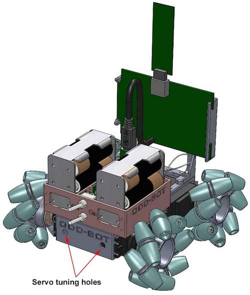 OddBot mit Mecanum-Rädern von Olaf Diegel - 3Druck.com