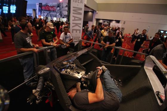 Strati SEMA 1 - Strati, das 3D-gedruckte Auto in Rekordzeit produziert - Update: zweiter Strati noch schneller zusammen gebaut
