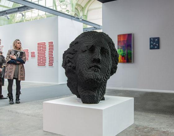 3D-gedruckte Skulptur von Janus, Miguel Chevalier