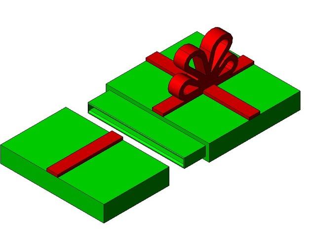 geschenk gutschein verpackung aus dem 3d drucker. Black Bedroom Furniture Sets. Home Design Ideas