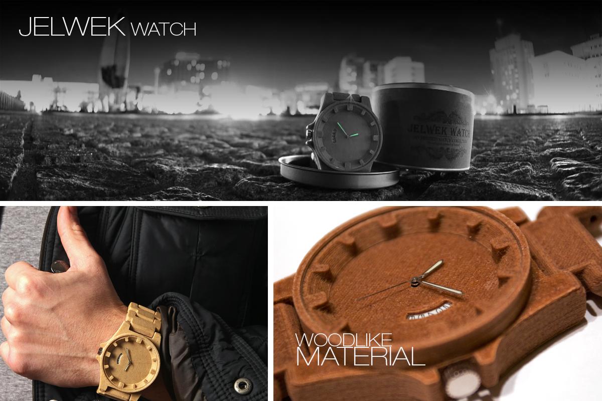 jelwek watch 3d druck armbanduhr2 - Jelwek Watch: 3D-gedruckte Armbanduhr aus Holz