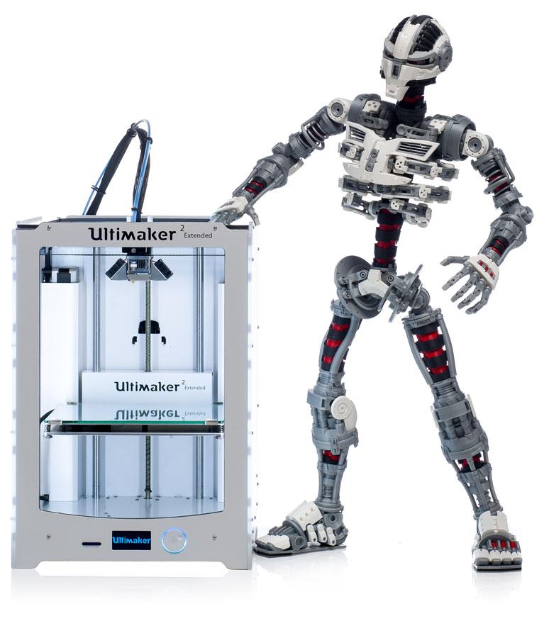 Ultimaker 2 Extended 4 - 2 Neue Ultimaker 3D-Drucker bei der CES 2015 vorgestellt - Update: Lieferung in 3-4 Wochen