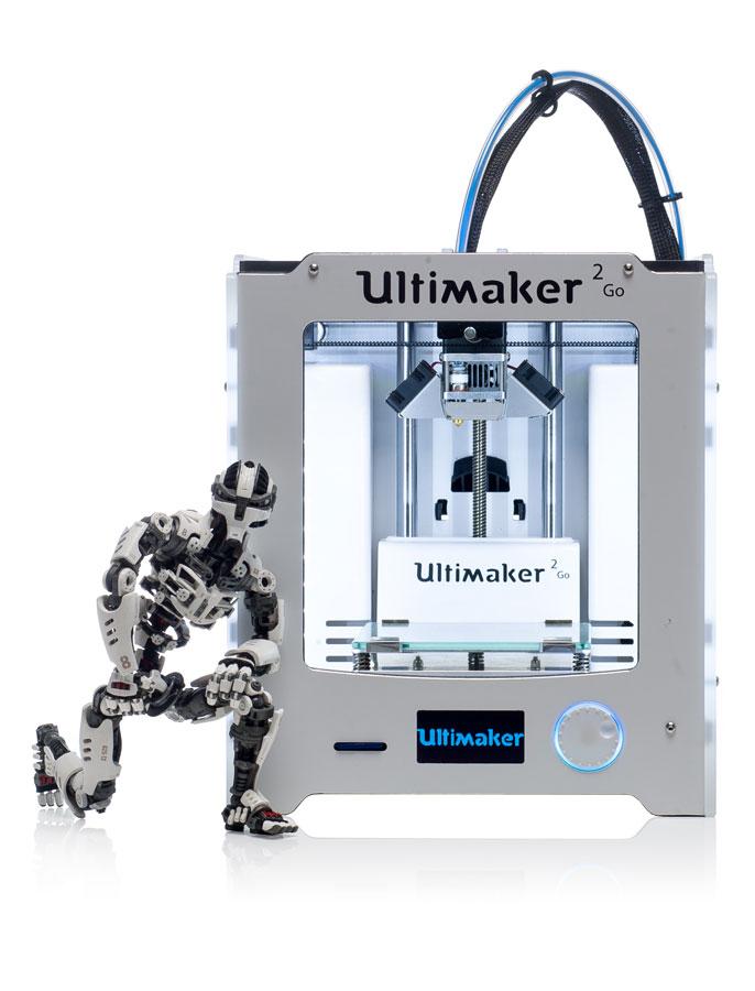 Ultimaker 2 GO 4 - 2 Neue Ultimaker 3D-Drucker bei der CES 2015 vorgestellt - Update: Lieferung in 3-4 Wochen