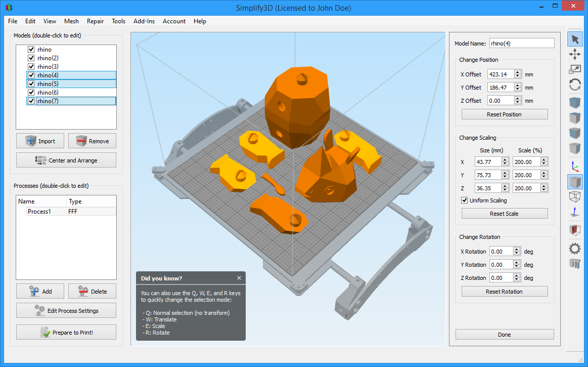 Simplify3d Interface Updates