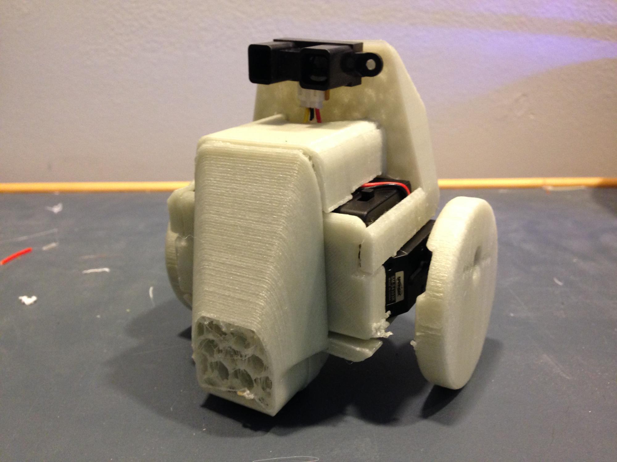 sensor und motor im 3d druck eingebaut roboter f hrt direkt aus dem 3d drucker. Black Bedroom Furniture Sets. Home Design Ideas