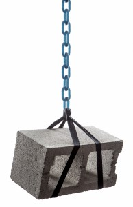 Tough-chain-cinderblock