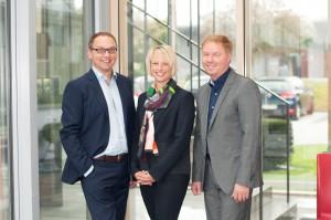 Geschäftsführung der Concept Laser GmbH: Frank Herzog - Geschäftsführender Gesellschafter; Kerstin Herzog - Leiterin Personal & Finanzen, Gesellschafterin; Oliver Edelmann - Leiter Vertrieb & Marketing, Gesellschafter (v.l.n.r.)