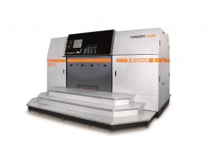 X line 2000R, eine Anlage, die den größten Bauraum weltweit (800x400x500mm3) mit der stärksten Laserleistung (2x1.000W) kombiniert