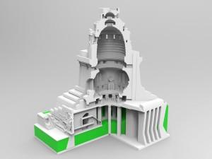 Fertig für den 3D Druck: Diese 3D Daten wurden aufgrund von Zeichnungen, Fotos und 3D Scannen per Drohnenflug erzeugt