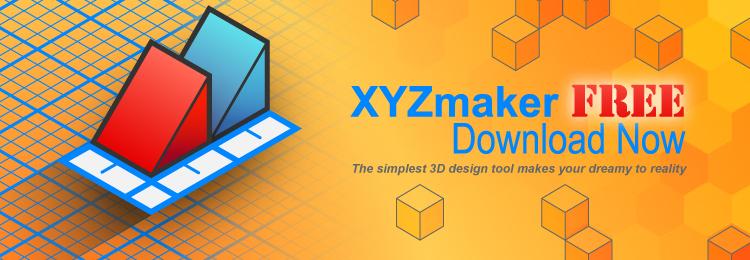 hersteller xyzprinting stellt kostenlose xyzmaker 3d design software vor. Black Bedroom Furniture Sets. Home Design Ideas