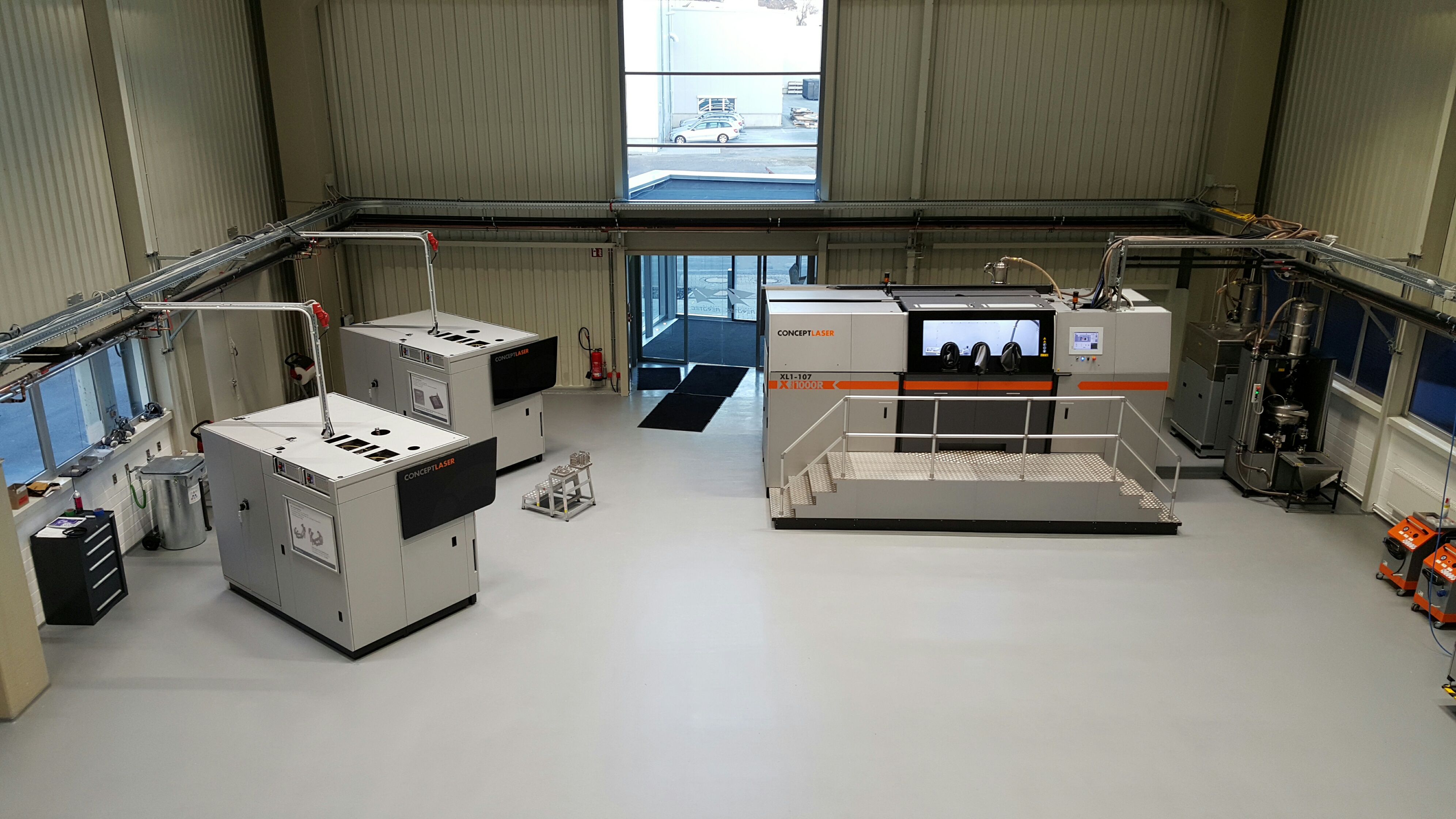 LaserCUSING-Anlagen von Concept Laser in der neue Produktionshalle in Varel, Bild: Premium Aerotec GmbH
