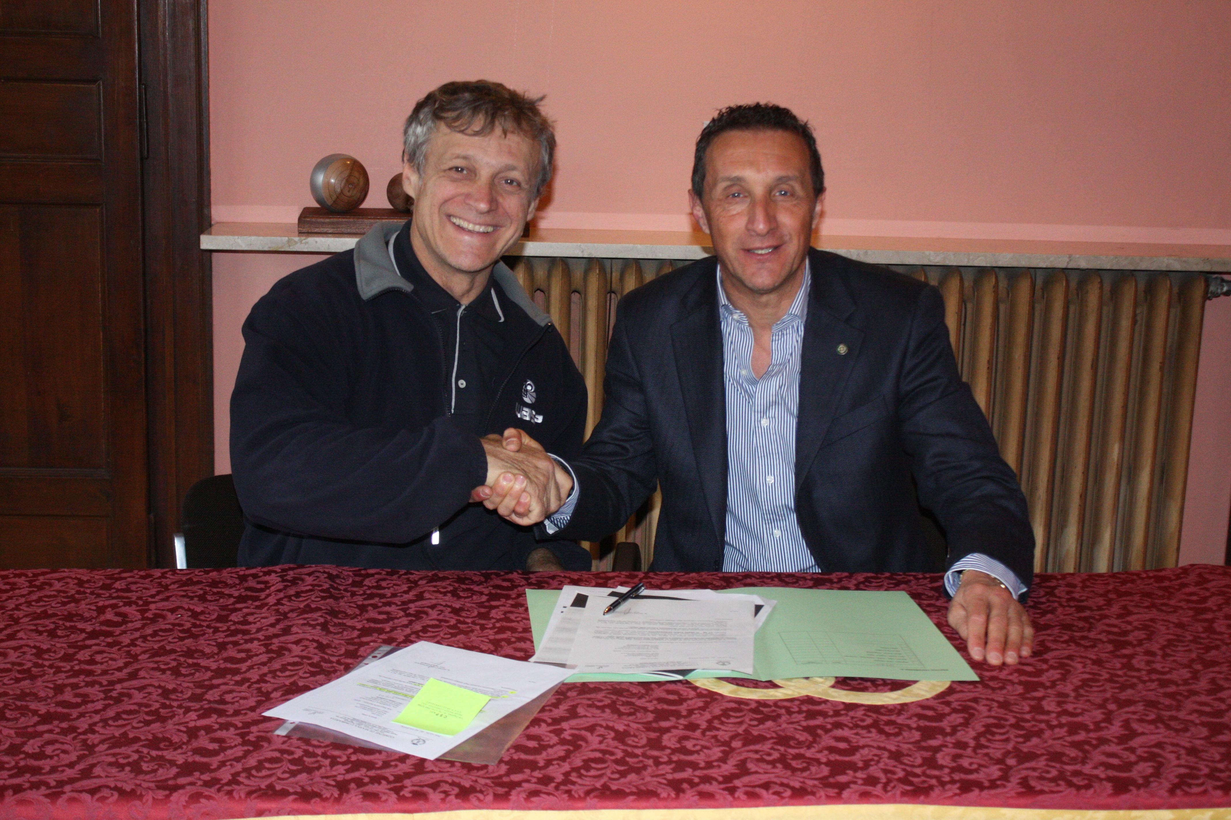 Bürgermeister Daniele Bassi und Massimo Moretti von WASP, Image: WASP